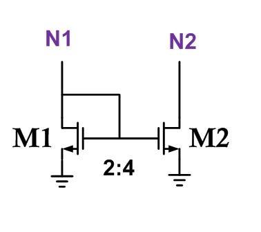 a: e& |1 tu$ b   那基本电流镜的电路是如下图这样:- }